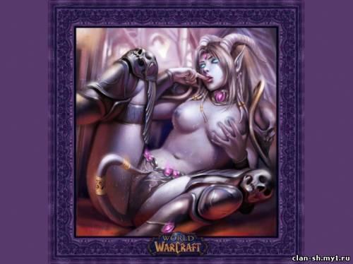 Огромное собрание эротических и порно картинок по вселенной World of Warcra
